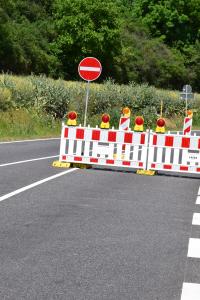 Temporary roadblock