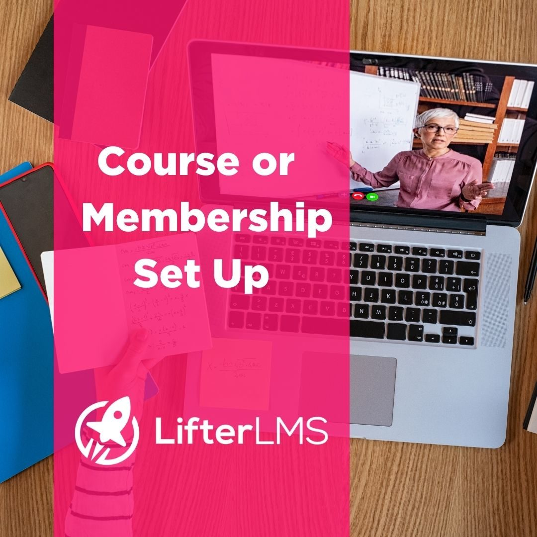 Coures or Membership set up